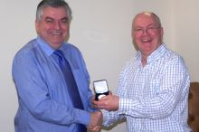 40 years long service medal to Chief Executive, Simon Russell