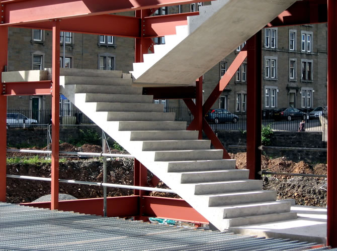 Leiths precast concrete for Prefab staircase